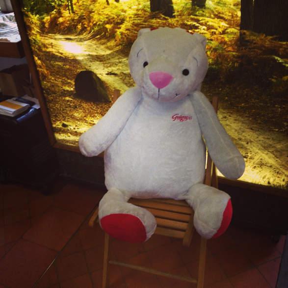 Le Gros Lapinou Guigoz qui nous a accueilli à l'Office National Des Forêts de Fontainebleau