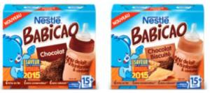 Et pour régaler les plus grands avec un bon goût de chocolat : Nestlé BABICAO aux saveurs chocolat et chocolat biscuité égayeront le petit déjeuner ou le goûter des p'tits bouts