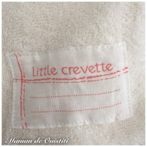 Bavoir Little Crevette