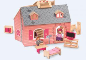 Lidl jouets en bois maison poupées