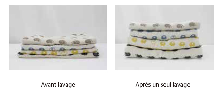 mille feuille de coton lavage