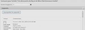 résultats BOJ WINX gagnante winx 1