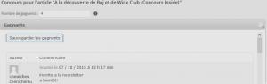 résultats BOJ WINX gagnante winx 2