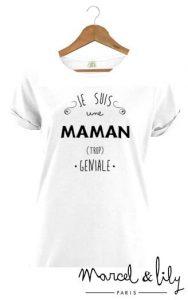 Fête des mères - Marcel et Lily Tshirt Maman