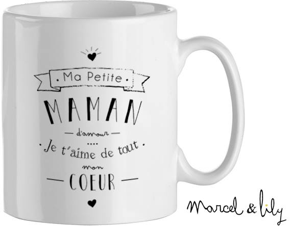f te des m res marcel et lily mug maman maman de ouistiti. Black Bedroom Furniture Sets. Home Design Ideas