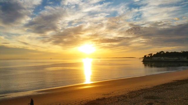 Semaine IG - vacances Fouras - coucher de soleil Grande Plage