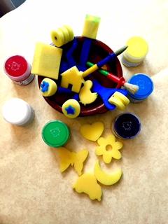 Auchan Gamme Créative - peinture éponges tampons
