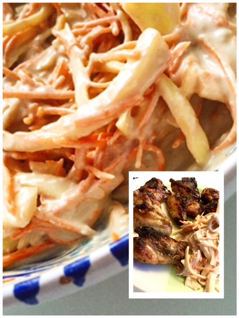 Recettes & Cabas - chicken wings coleslaw
