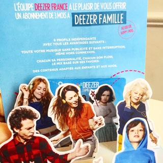 Semaine IG - Deezer pack famille