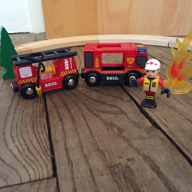 Noël - Grand circuit pompiers Brio