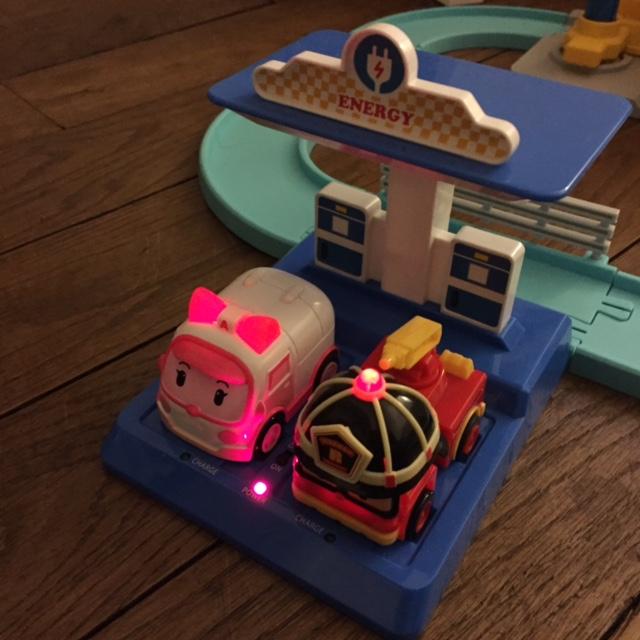 Noël - robocar poli - circuit deluxe intelligent