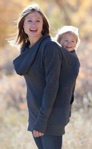 maman naturelle hoodie portage dos