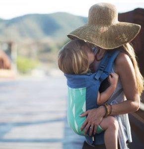 maman naturelle - st valentin - beco toddler verte d'eau