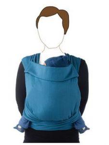 maman naturelle - st valentin - porte bébé Taï Babylonia bleu