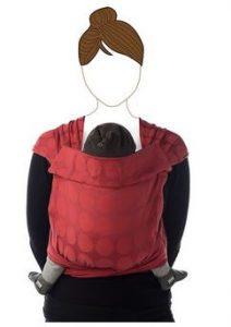 maman naturelle - st valentin - porte bébé Taï Babylonia rouge