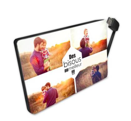 Fête des pères - papas -planet photo - batterie nomade personnalisée