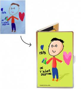 fête des pères - madame propane kids - porte cartes
