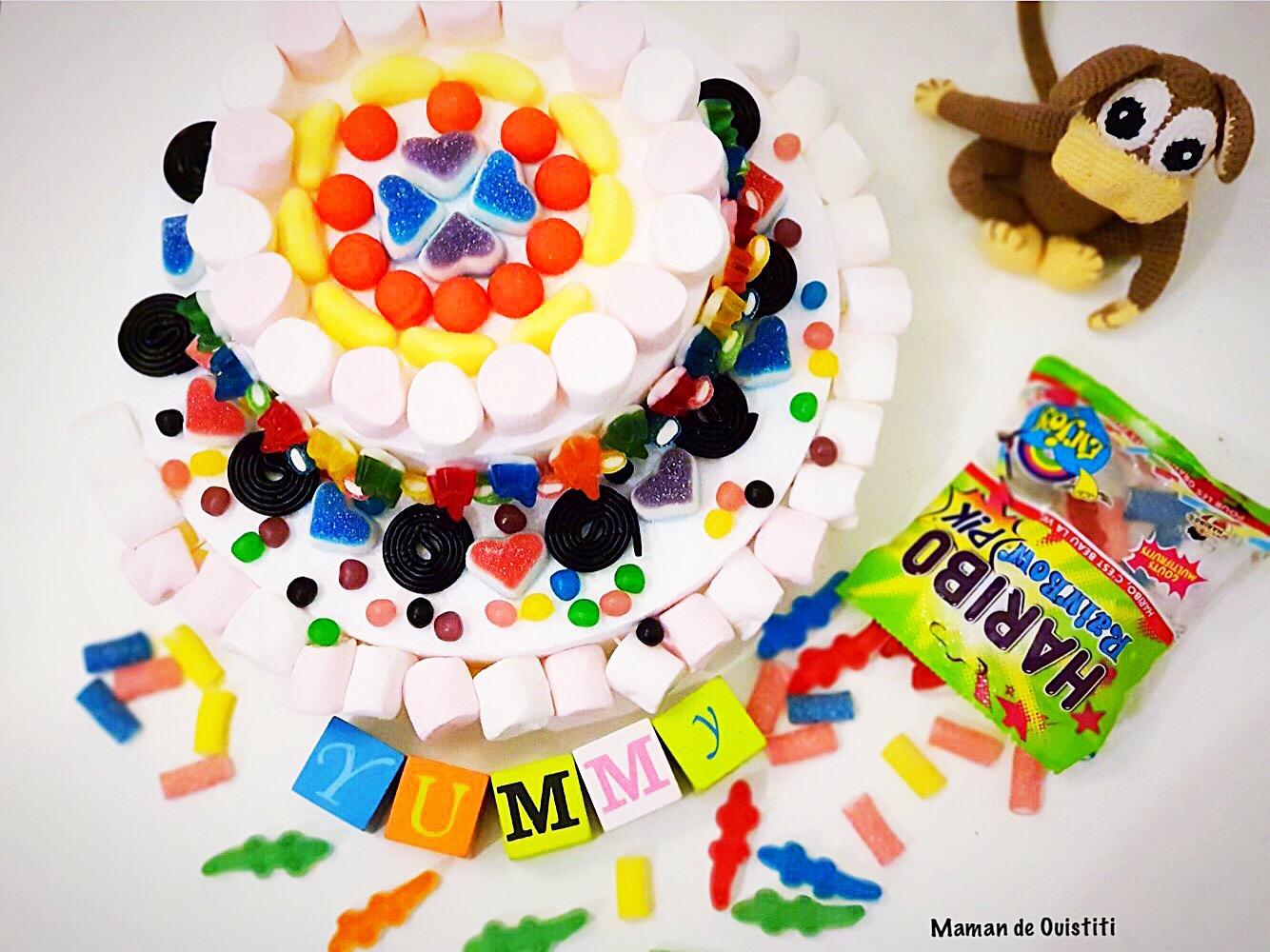 mars - haribo - gâteau de bonbons