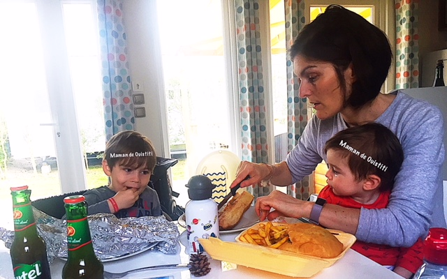 sandaya - camping cote de nacre - cottage - coin repas