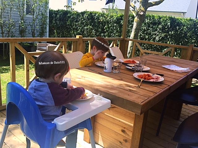 sandaya - camping cote de nacre - cottage - terrasse