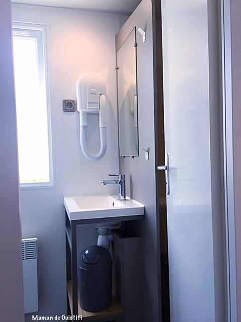sandaya - camping cote de nacre - cottage - salle de bain