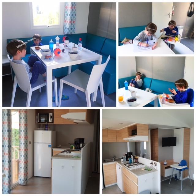 sandaya - camping cote de nacre - cottage - cuisine - salon