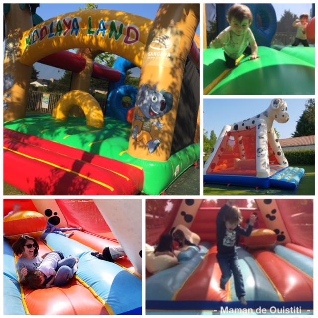 sandaya - camping cote de nacre - aire de jeux - château gonflable