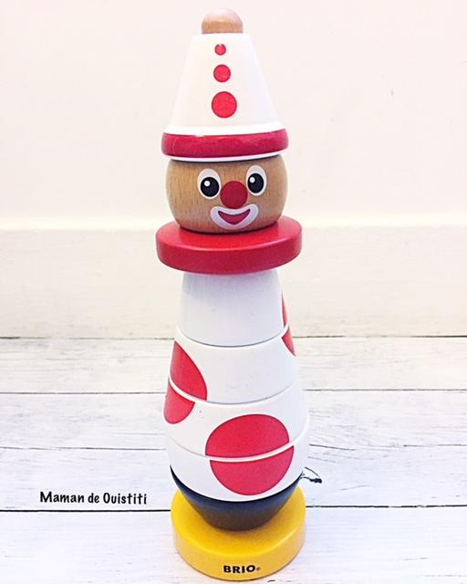 brio - clown en bois édition anniversaire