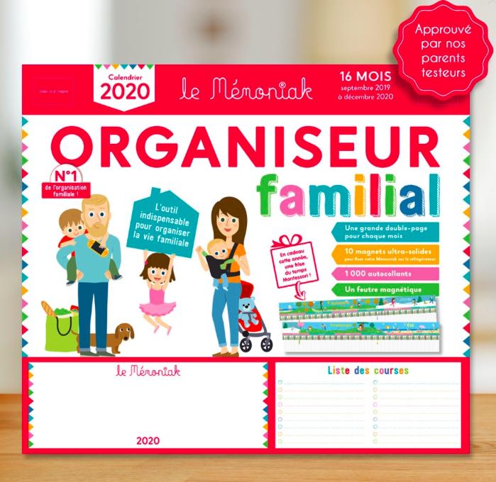 Memoniak - organiseur - calendrier - astuces pour organiser la vie de famille - memoniak