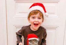 anniversaire - 3 ans - du bébé au petit garçon - la halle - pyjama de noel