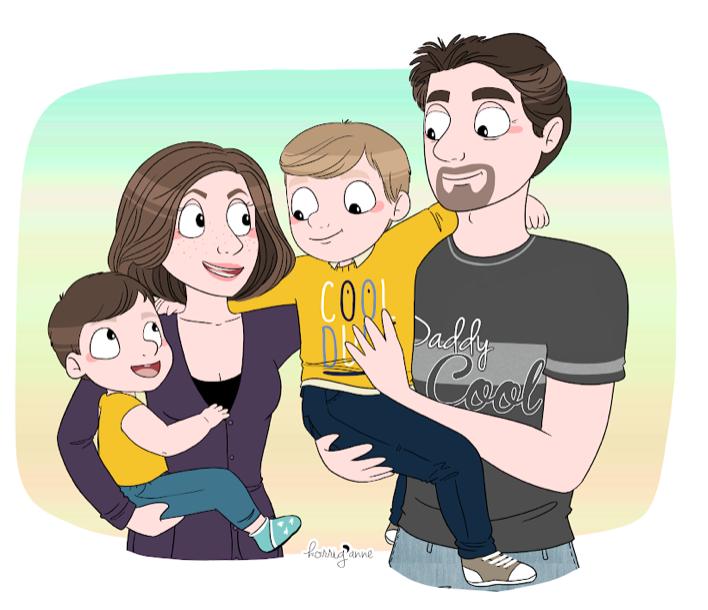 portrait de famille - korrig'anne