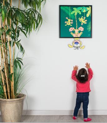 Chambre enfant-deco chambre-Funky Frame-tableau-Marsupilami