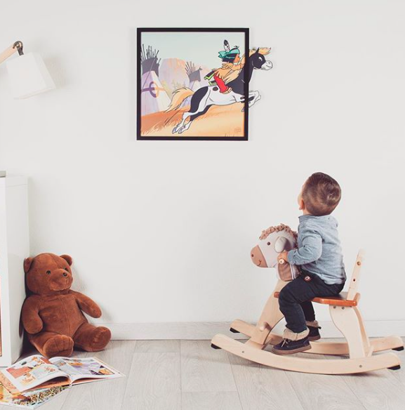 Chambre enfant-deco chambre-Funky Frame-tableau-Yakari