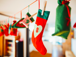 look de Noël - chaussettes de Noël